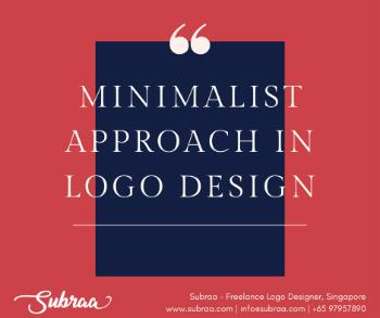 Minimalist Approach in logo design Singapore by  professional logo designer in Singapore