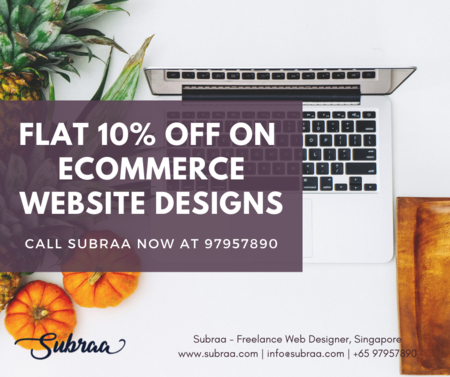 eCommerce Web Design and Digital Marketing Offers From Subraa Freelance Web Designer in Singapore