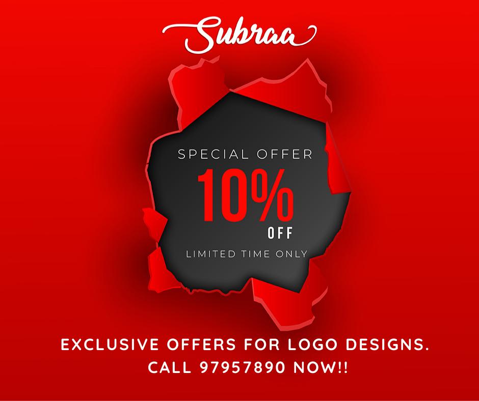 Logo design promotions by subraa professional freelance logo designer Singapore