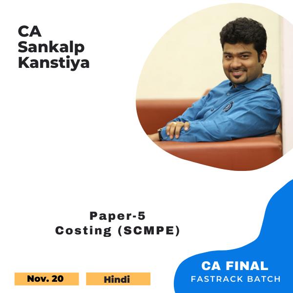 Best CA Final Costing SCMPE Pendrive Classes by CA Sankalp Kanstiya - CourseTrail