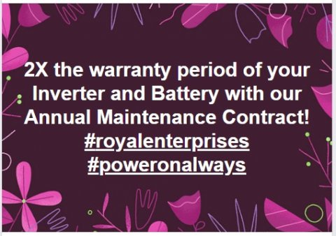 Royal Enterprises, Unisco, Alternate Power Solutions, Chennai, India