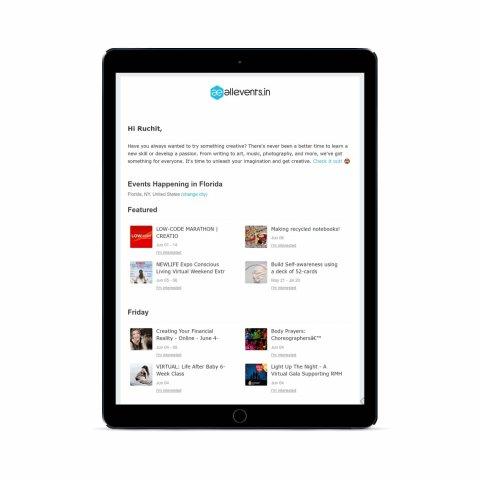 Event marketing Platform