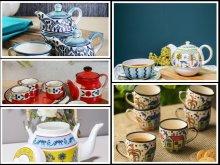 tea set with kettle