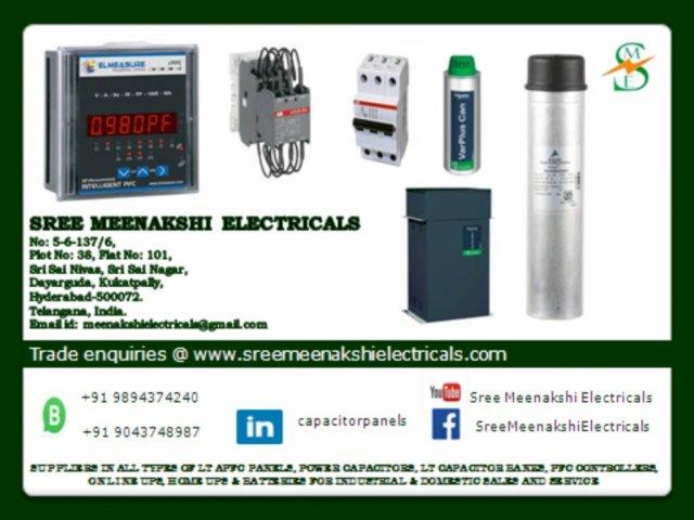 Power Capacitors, Contactors,MCB,PFC Controllers